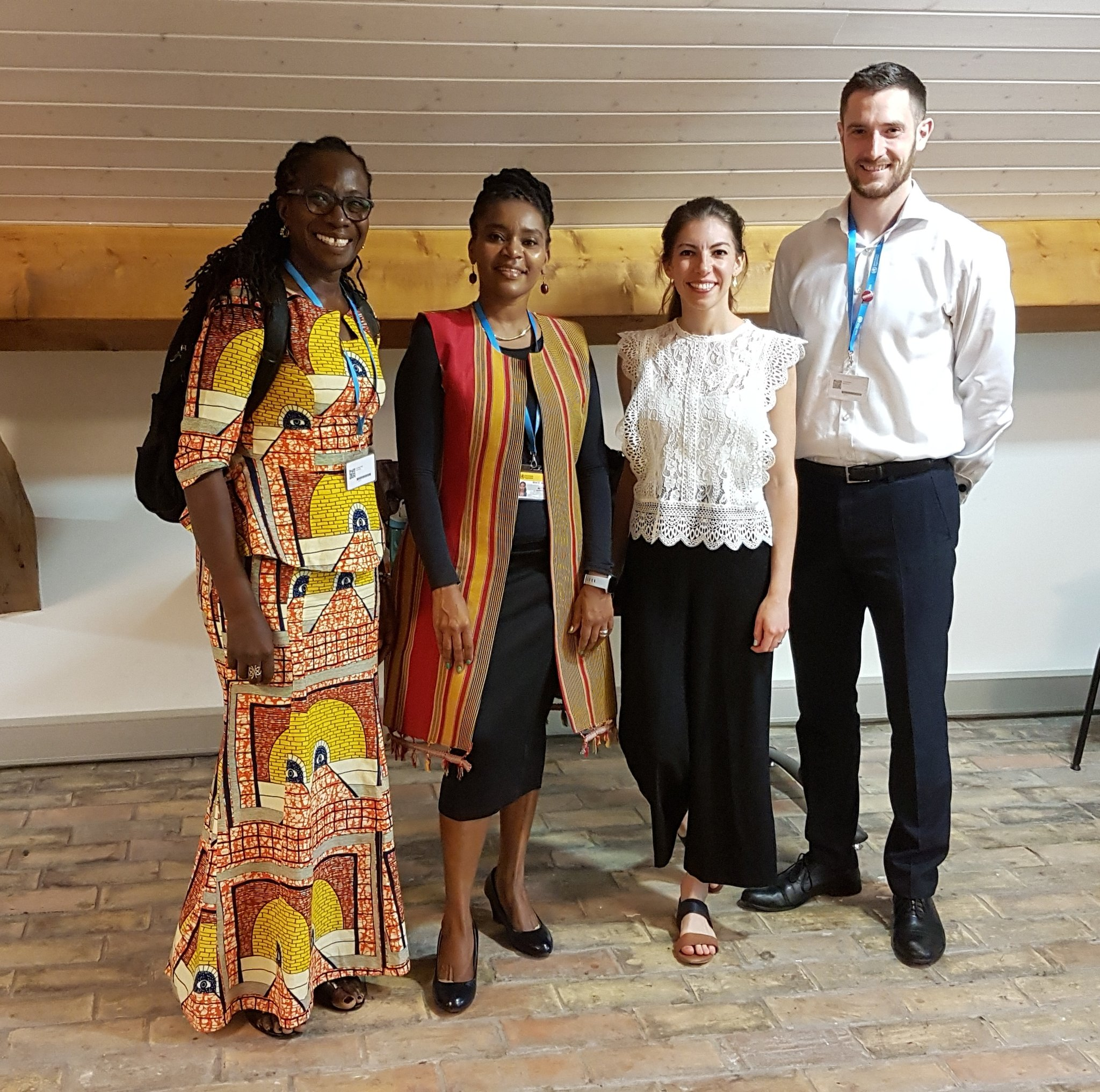Dedo Mate Kodjo, Lucy Murage, Megan Wilson-Jones and Callum Northcote at the nutrition side event.