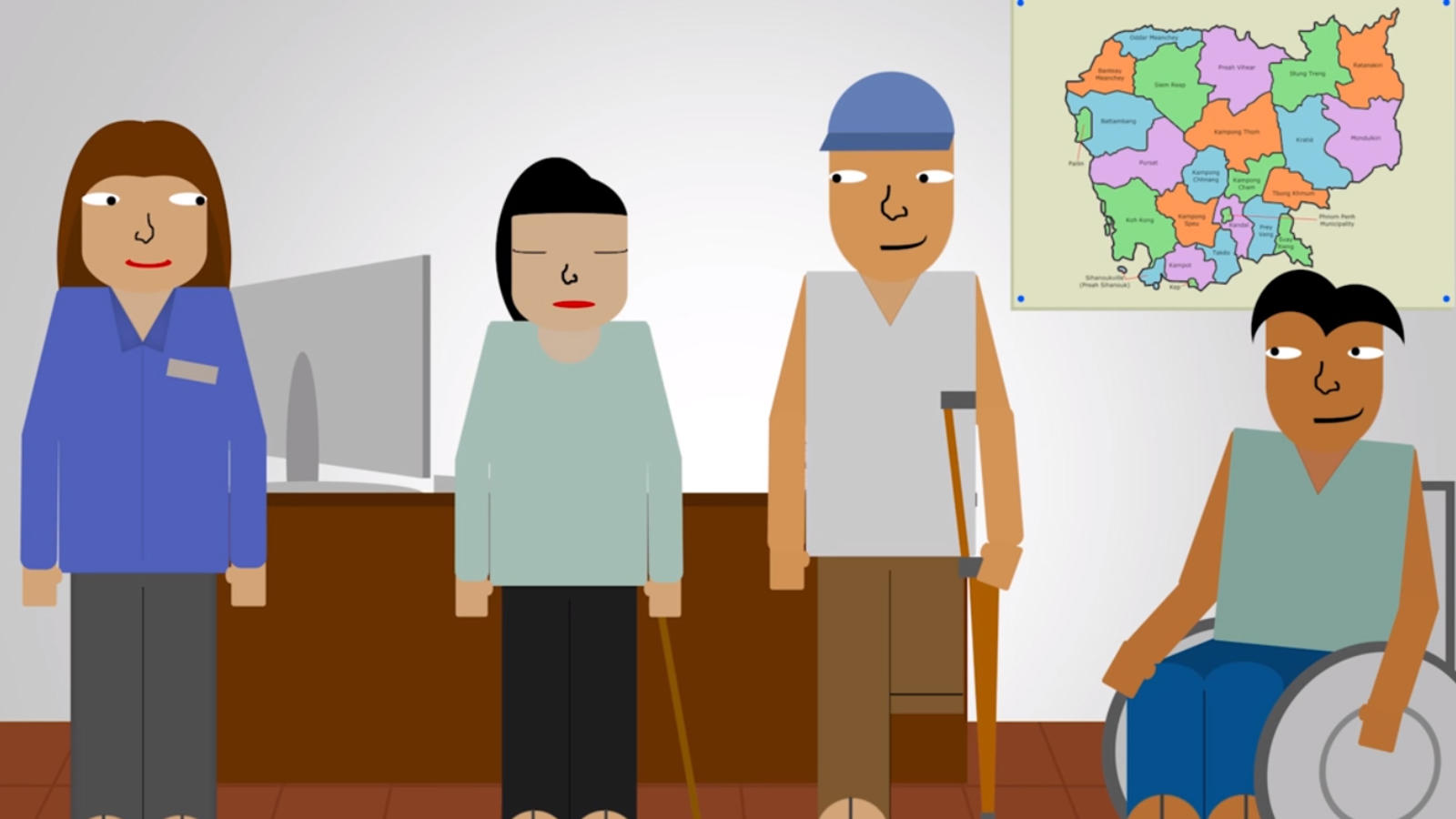 A still from an animation about accessibility.