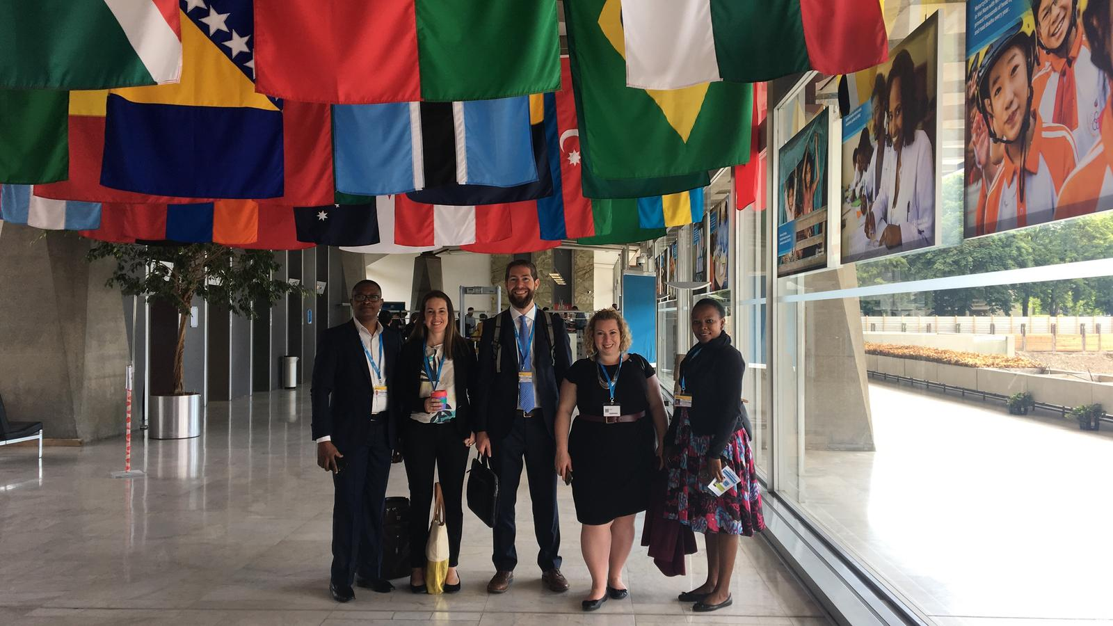 WaterAid delegates at World Health Assembly