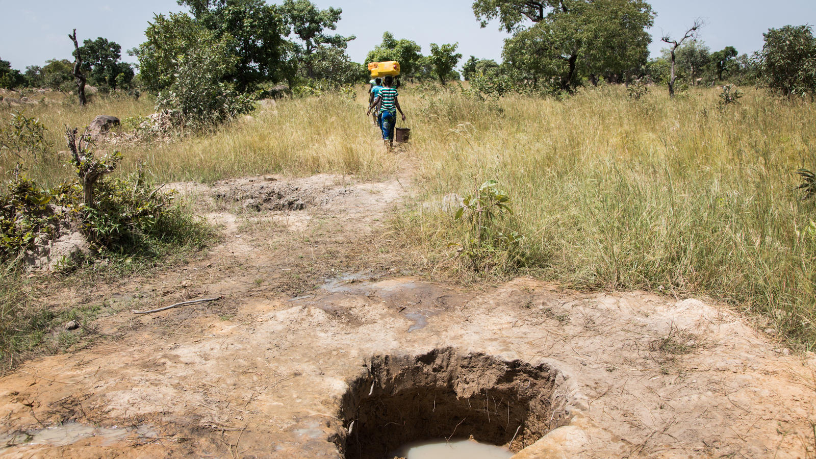 Hand-dug open well in Imbina, Burkina Faso, October 2014.