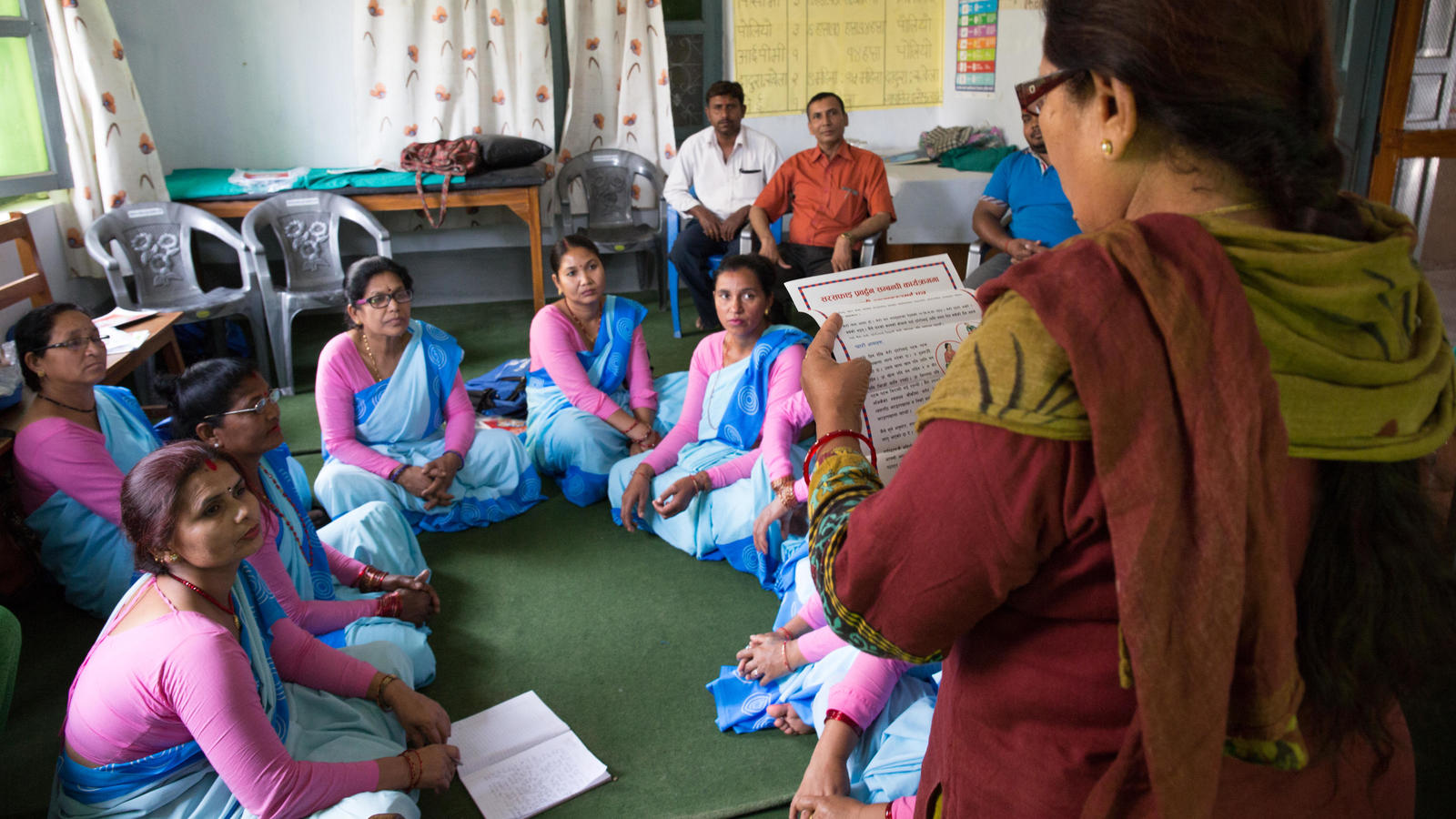 Training Female Community Health Volunteers in Nepal.