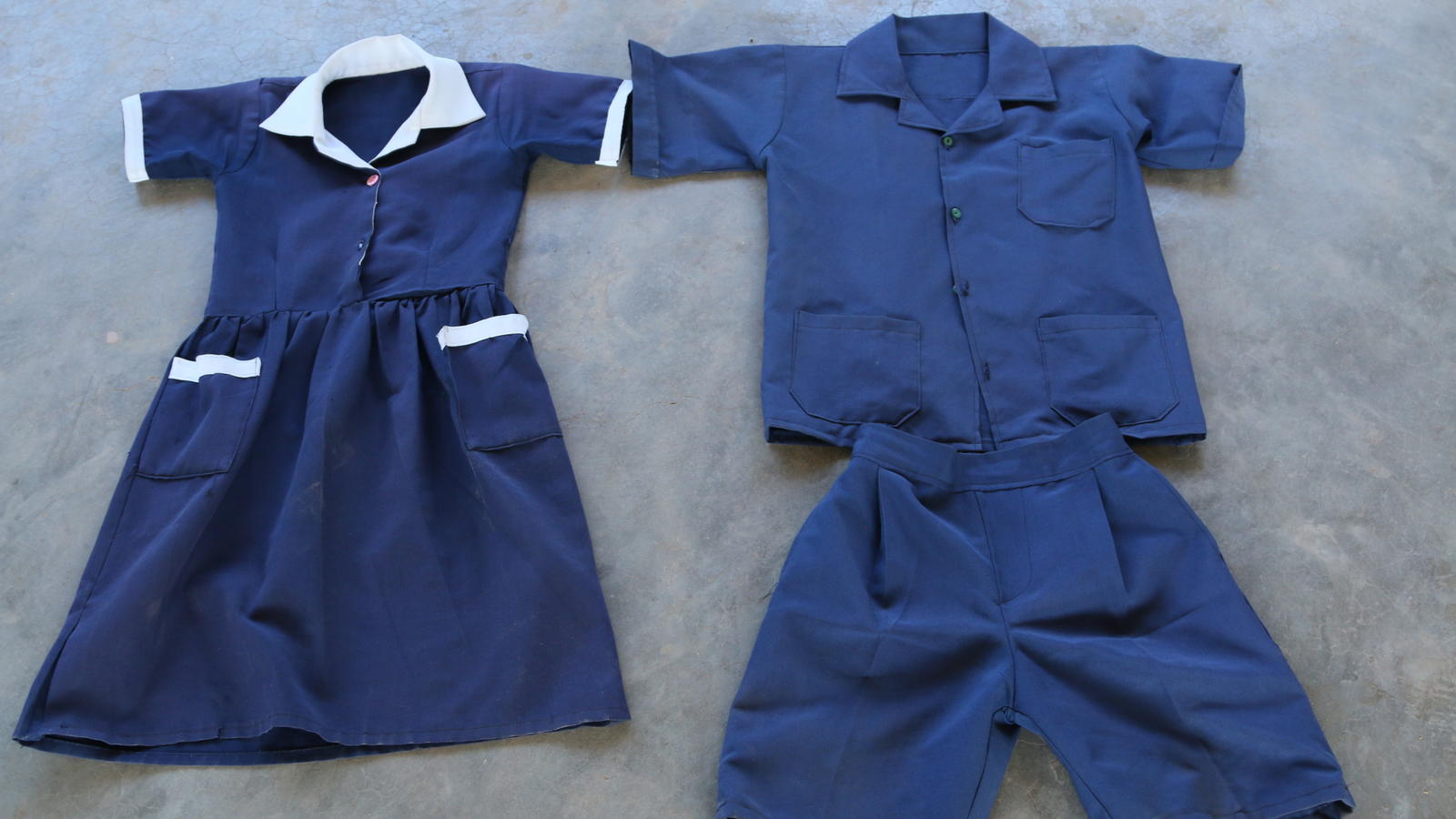 School uniforms at Katapazi School, Zambia.