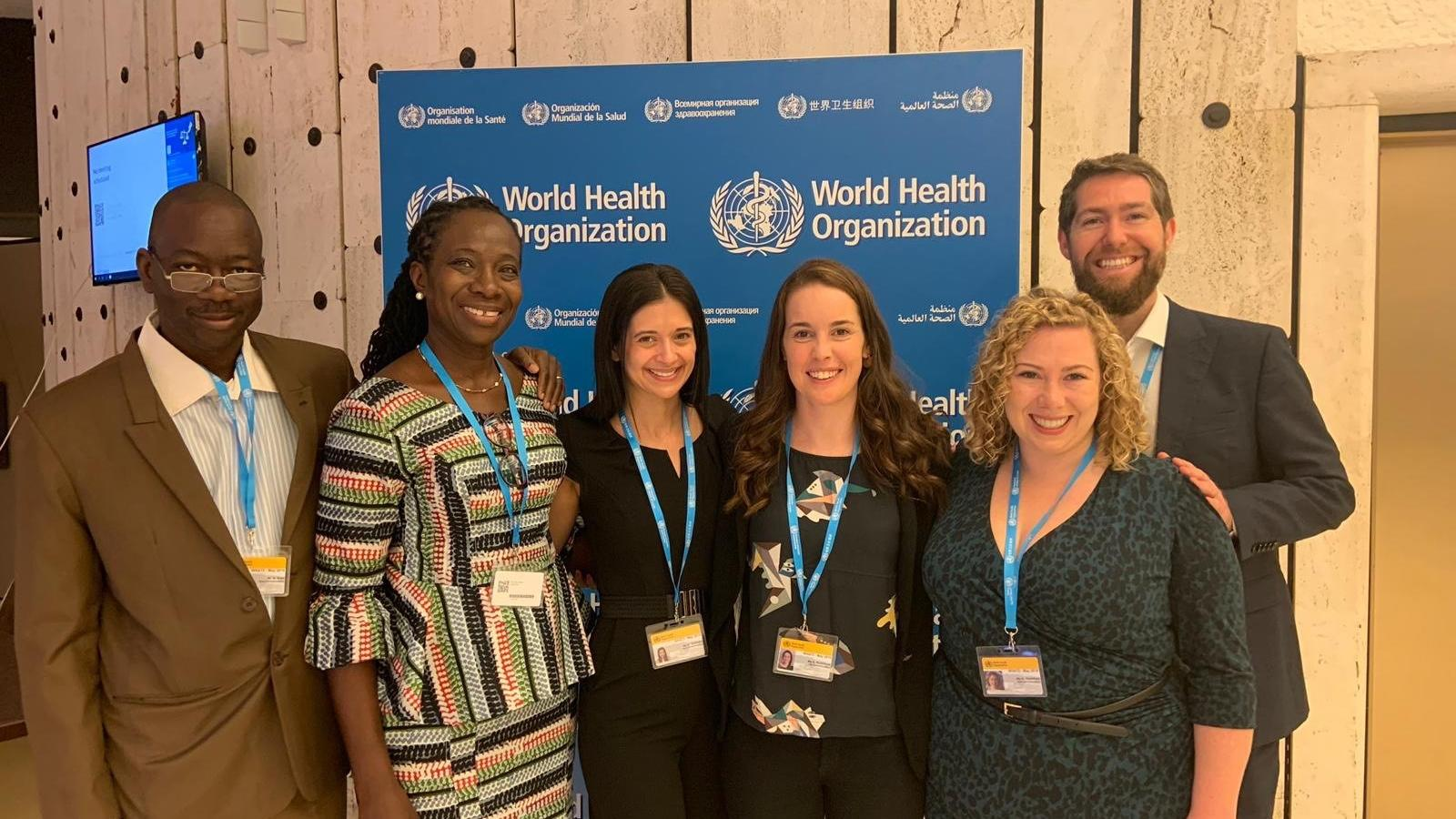 WaterAid delegates at the World Health Assembly 2019