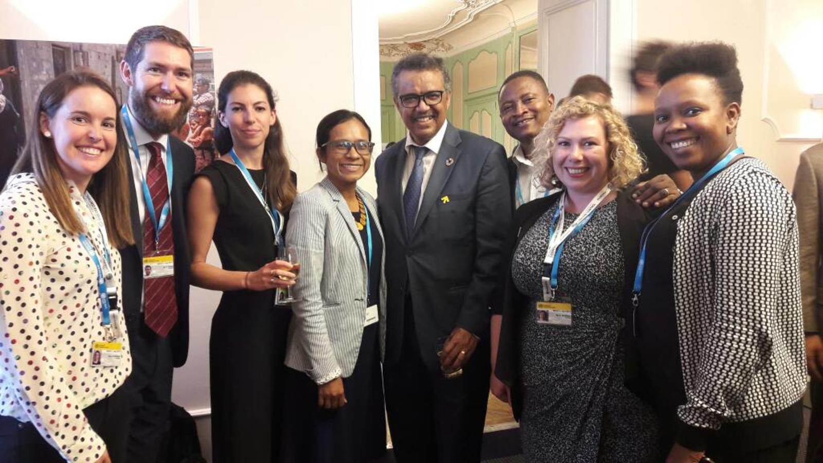 WaterAid's advocates meet WHO Director-General Dr Tedros Ghebreyesus at the World Health Assembly 2018