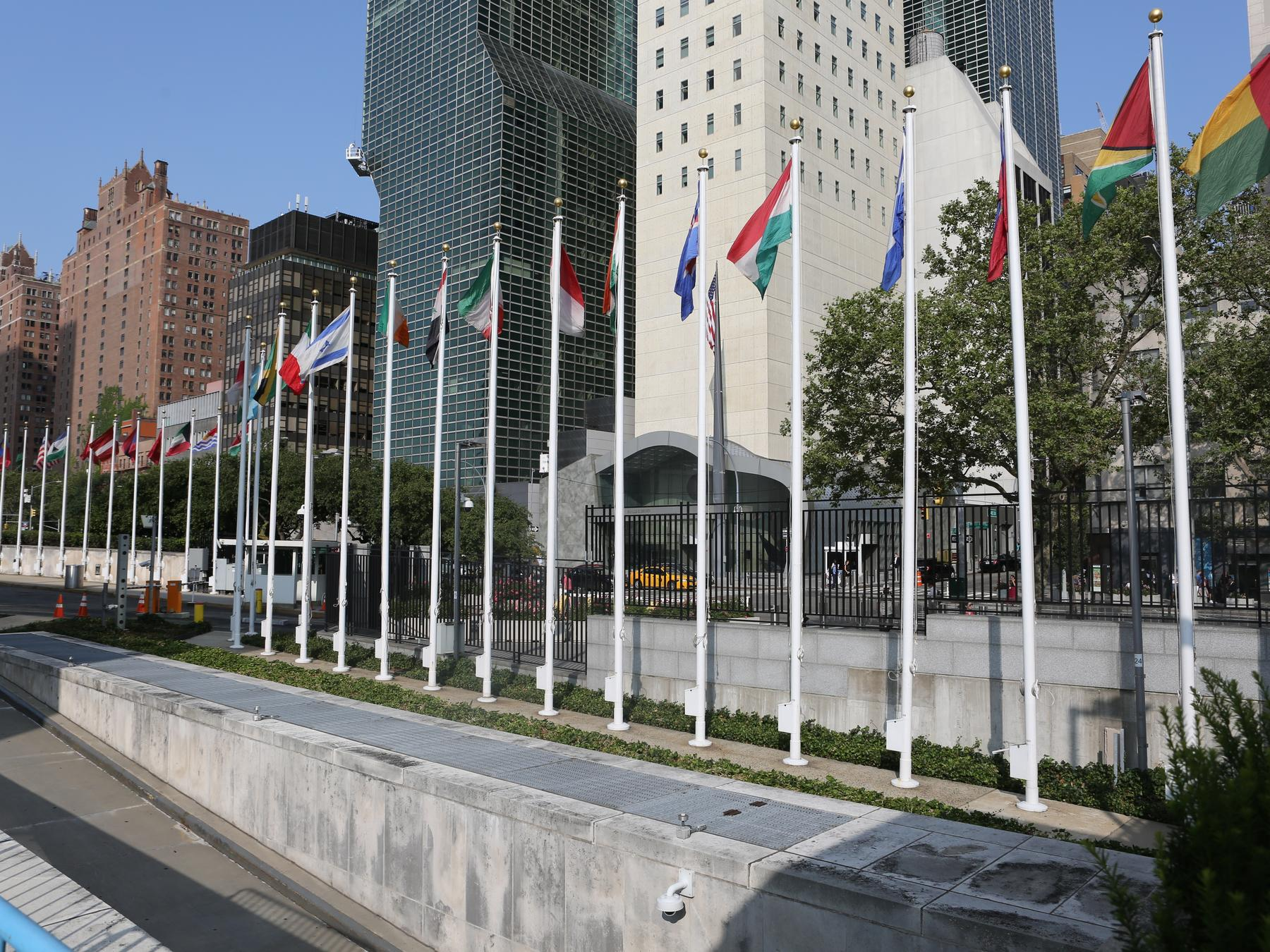 Flags at the United Nations in New York