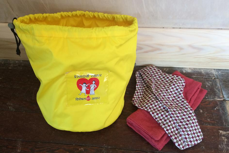A menstrual storage bag which includes reusable menstrual pads.