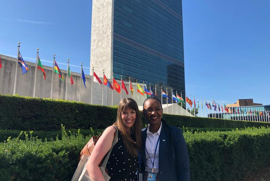 Bethan Twigg and Vestine Mukeshimana, WaterAid delegates at the UN HLPF 2019
