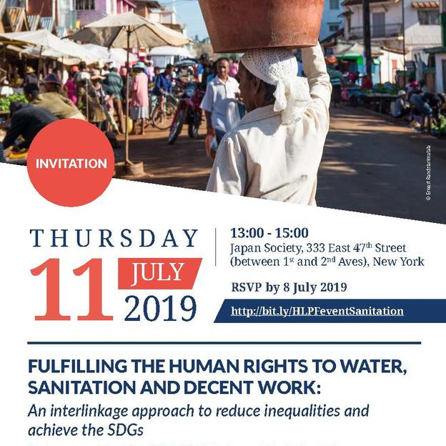 Flyer for HLPF side event on WASH and inequalities